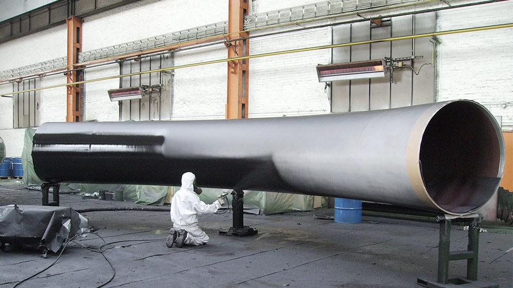Heiß-Airless Verfahren mit Polyurethan-Beschichtung